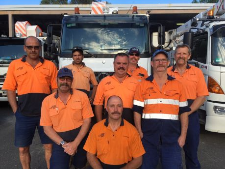 Our Mt Barker staff proudly showing off their Movember efforts